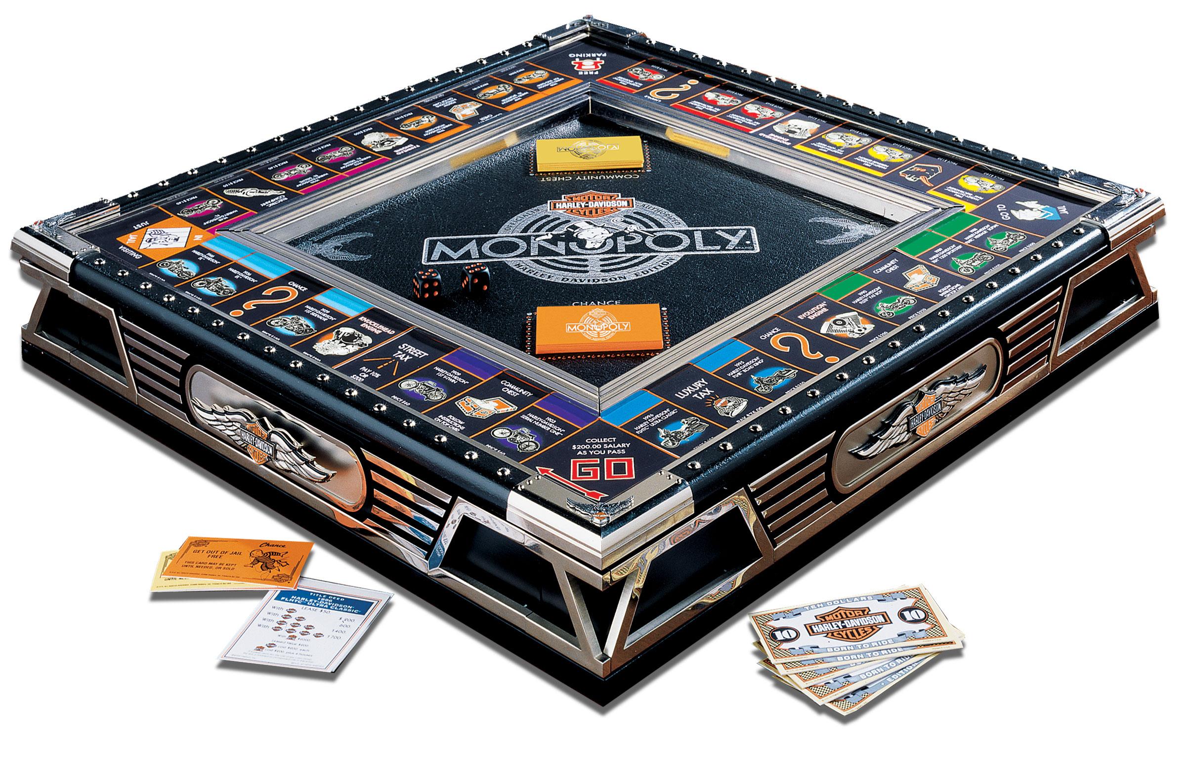 The Franklin Mint Monopol Harley Davidson Monopoly