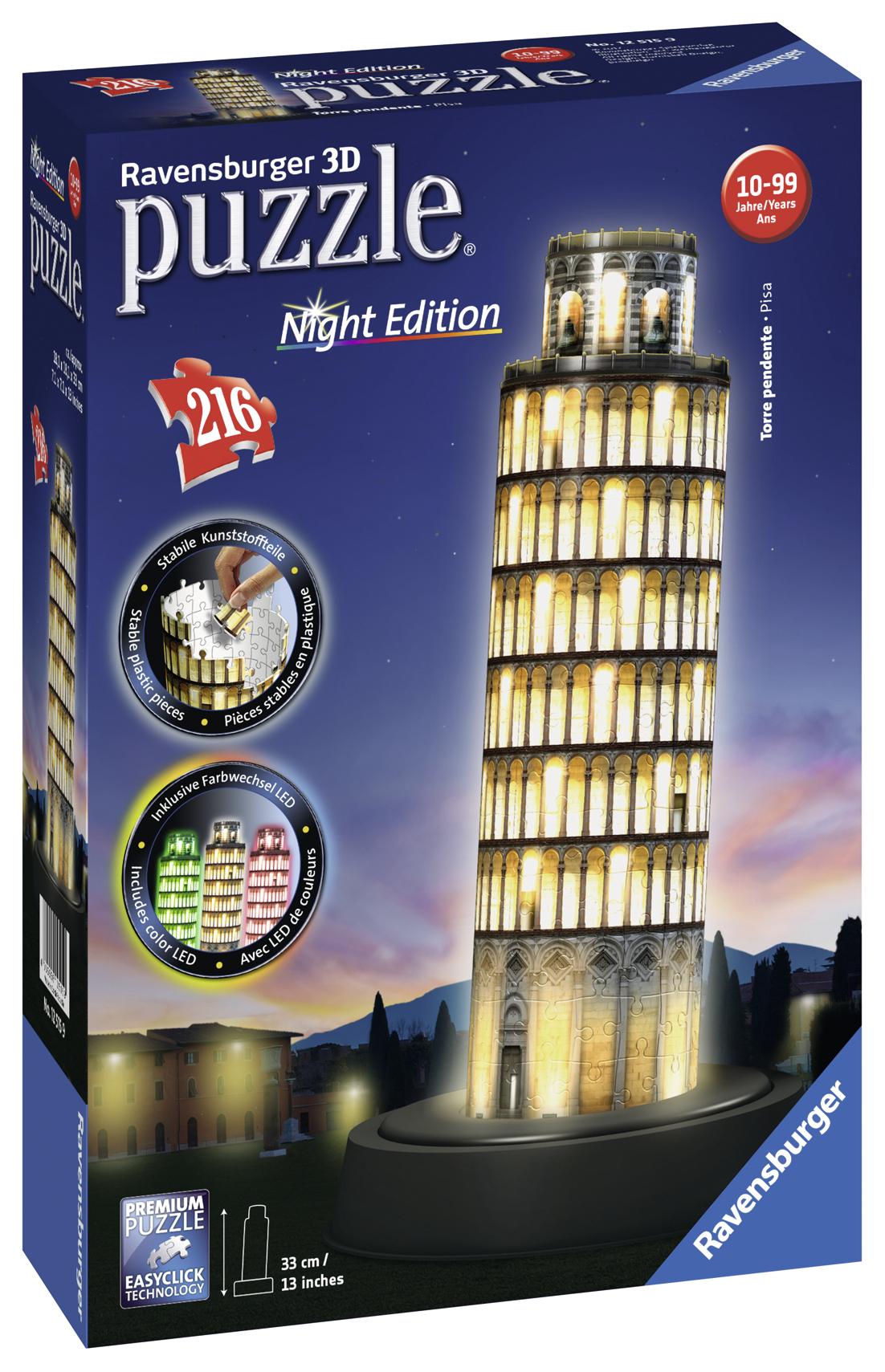 Leksaker - Ravensburger Pussel Pisa Night Edition 216 bitar - Bokextra 7706047788c11